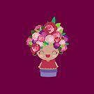 Cute Burgundy Flower Girl by Claudia Ramos