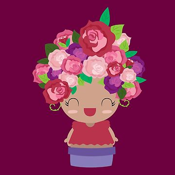 Cute Burgundy Flower Girl by claudiaramos