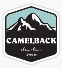 camelback elevation ski skiing hiking climbing biking snow snowboarding Sticker