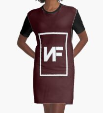 Nf - Simple  Graphic T-Shirt Dress