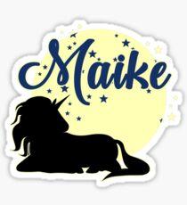Maike name first name girl Sticker