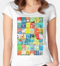 Dr. Seuss Book Covers Women's Fitted Scoop T-Shirt