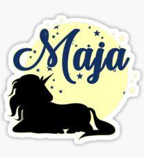 Maja Name Maiden name Women Sticker