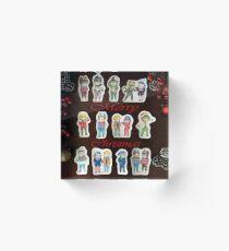 Christmas Chibis Acrylic Block