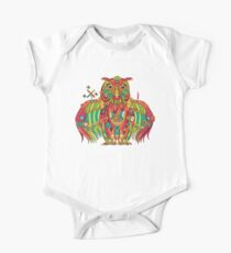 Owl, cool art from the AlphaPod Collection One Piece - Short Sleeve