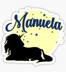 Manuela Surname First name Sticker