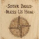 Brigid's Cross Blessing Woodburned Plaque by Brandy Woods