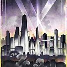 Art Deco Metropolis - Steampunk Vintage City Skyline by forge22