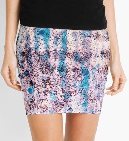 Summer Blue Rain Mini Skirt