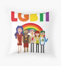 LGBTI diversity Throw Pillow