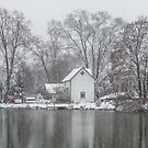 Lake Weamaconk Snow Scene by andykazie