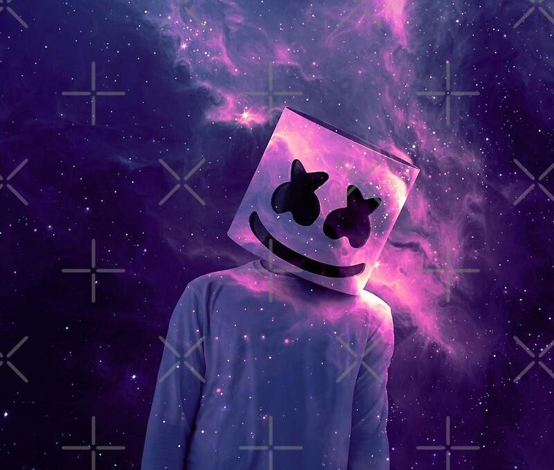 Láminas Fotográficas «Marshmello Galaxy Purple» De Jack