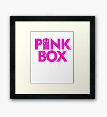 DOCTOR 13 PINK BOX TIME LADY MALE FEMALE TIME SYMBOL POLICE BOX TEE Framed Print