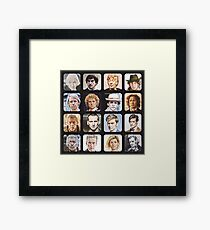 The Sixteen Doctors Framed Print