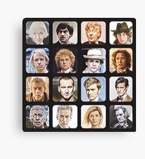 The Sixteen Doctors Canvas Print