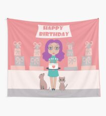 WISHING YOU THE HAPPIEST OF BIRTHDAYS! Wall Tapestry