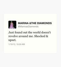 Marina und die Diamanten tweeten Kunstdruck