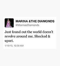 marina and the diamonds tweet  Photographic Print