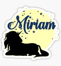Miriam name first name sweet unicorn Sticker