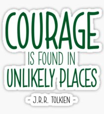 Courage Quote - J.R.R. Tolkien Sticker