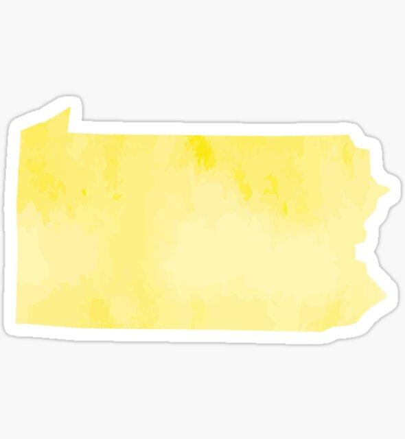 Yellow Watercolor Pennsylvania by kevgib