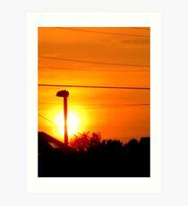 sunlit lamp Art Print