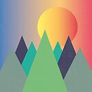 Mountains - The Sun Rises  by DesignByLang