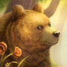 Bear Portrait von Sandra Süsser