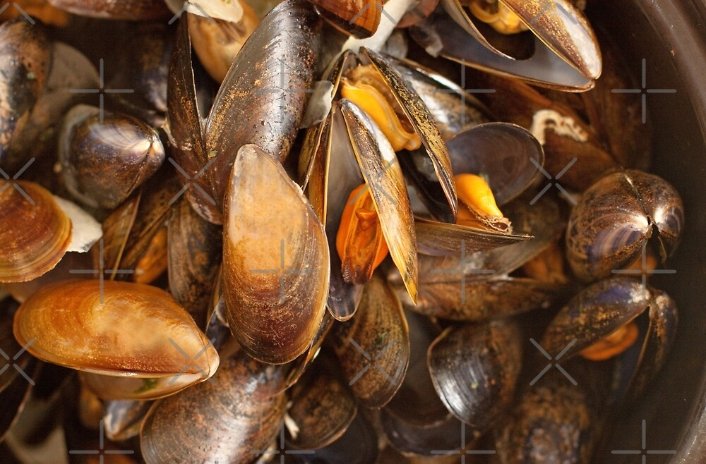 A Plate of Mussels by Buckwhite