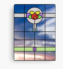 Stained glass vision Canvas Print