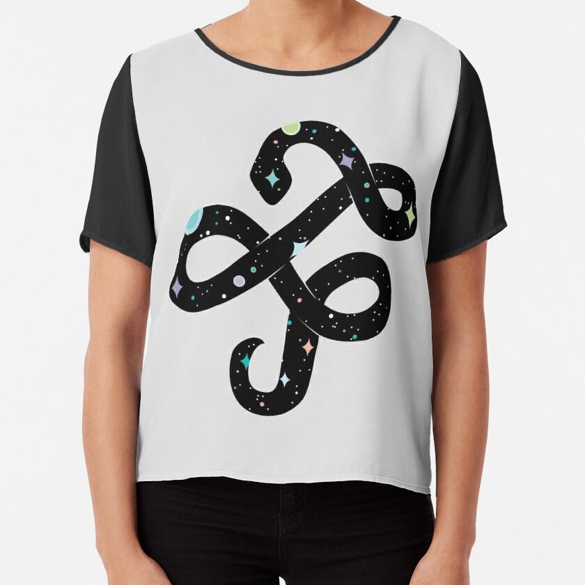 Snake of Chaos Chiffon Top