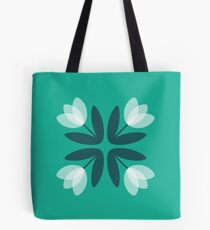 Tulips from Amsterdam in Teal Green Tote Bag