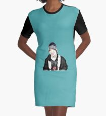 Life Is Smile Graphic T-Shirt Dress