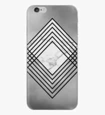 White Marble Diamond in Clouds Design iPhone Case