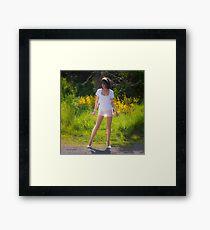 Backlit summer Framed Print