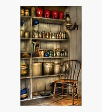 The chair in the corner of the kitchen Photographic Print