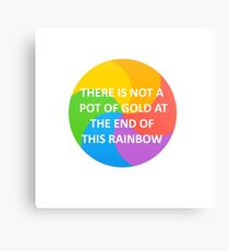 Rainbow Wheel- Pot of Gold Canvas Print