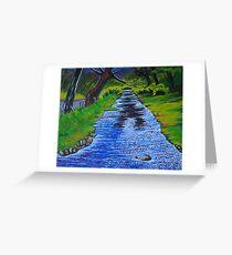 Stream in the garden of Blarney Castle, County Cork, Irish Republic Greeting Card
