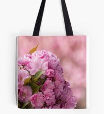 pink blossomed sakura flowers Tote Bag