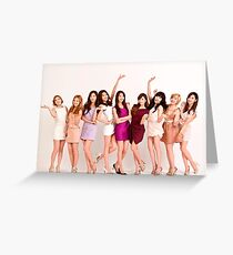 Girls Generation Greeting Card