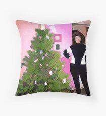 Christmas 1990 Throw Pillow