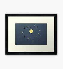 United Europe symbol heart shape Framed Print