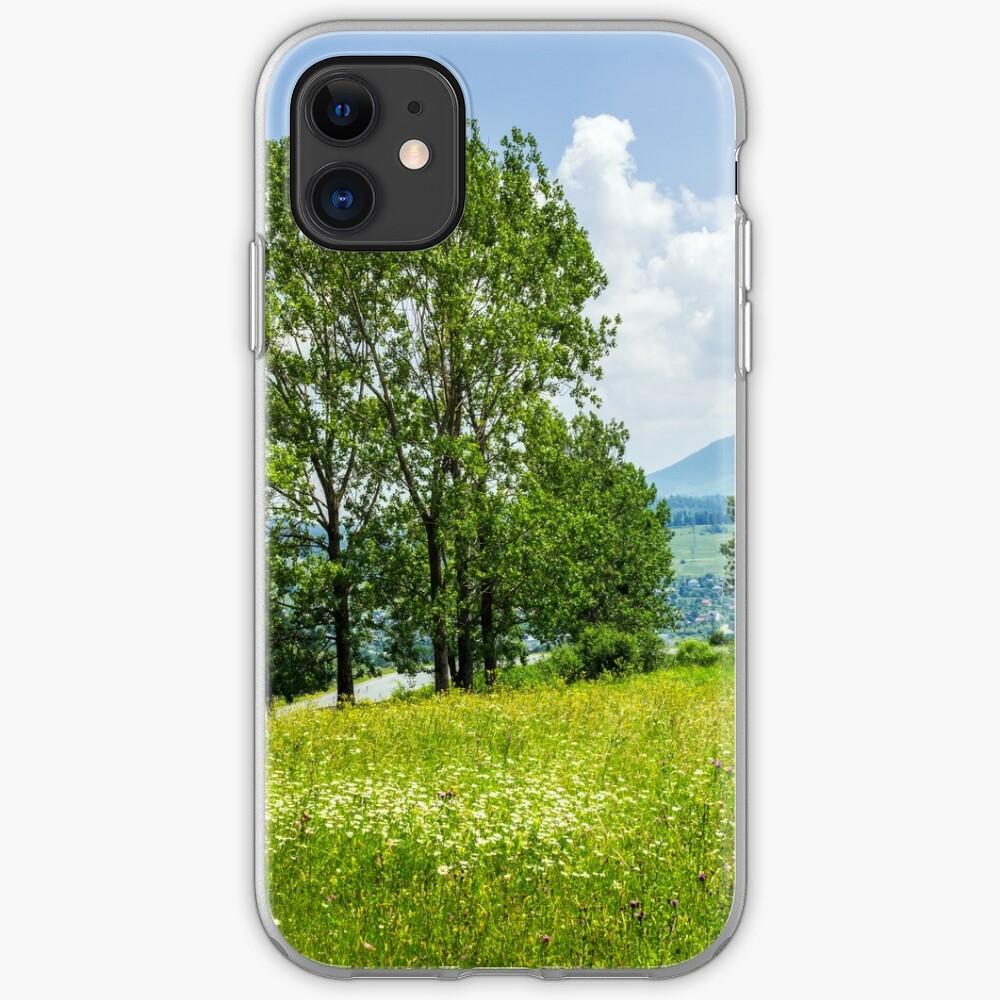 forest glade on hillside iPhone Soft Case