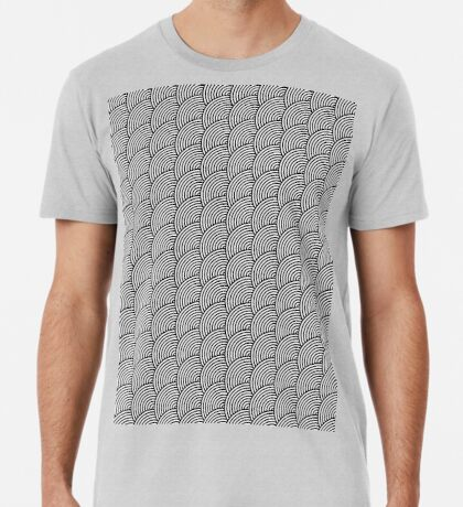 Offset Concentric Circles Pattern 003 Premium T-Shirt