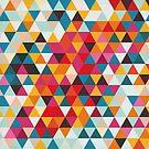 Vintage Summer Color Palette - Hipster Geometric Triangle Pattern by DesignByLang