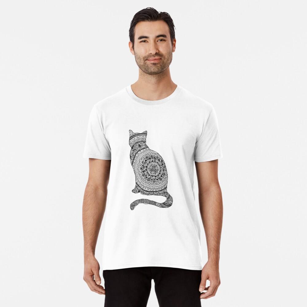 gato mandala Camiseta premium