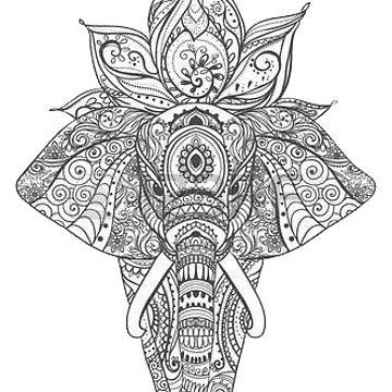 mandala elefante de stickersnstuff