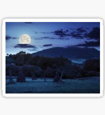 agriculture field in mountains at night Sticker