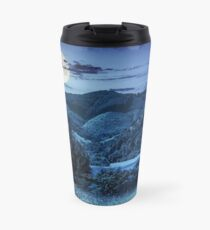 pine trees near meadow in mountains at night Travel Mug