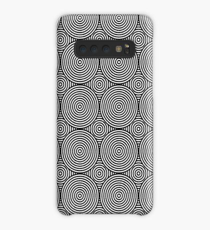 Offset Concentric Circles Pattern 004 Case/Skin for Samsung Galaxy